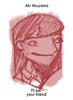 Daily Sketch 9: Aki Akuyama by kingofsnake