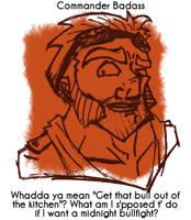 Daily Sketch 10: Commander by kingofsnake