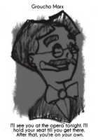 Daily Sketch 15: Groucho Marx by kingofsnake