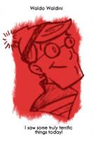 Daily Sketch 16: Waldo by kingofsnake