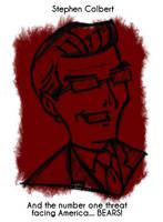 Daily Sketch 17: Stephen Colbert by kingofsnake