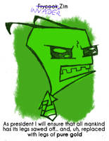 Daily Sketch 39: Invader Zim by kingofsnake