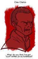Daily Sketch 40: Chev Chelios by kingofsnake