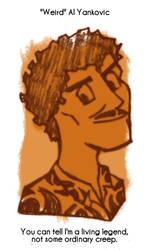 Daily Sketch 82: Weird Al Yankovic by kingofsnake