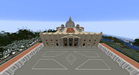 Minecraft - St. Peter's Basilica Redone by MinecraftArchitect90