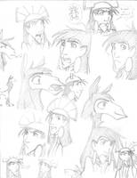Kuzco sketches: Manga style by KN-KL