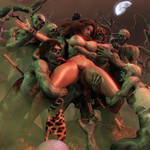 Cavewoman Zombie Situation by greent64