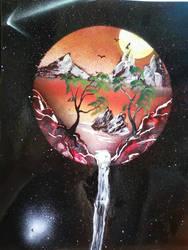2010 spraycan painting by SKELVAMPIRE