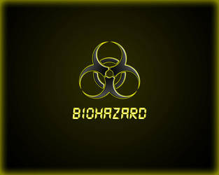 Biohazard yellow wallpaper by WinterWerewolf