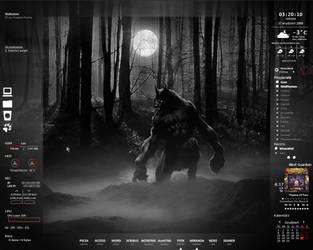 My desktop by WinterWerewolf