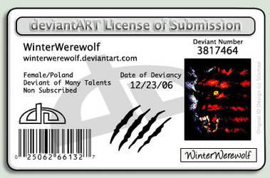 deviant License ID by WinterWerewolf
