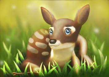 Cartoony deer by UnknownXz9