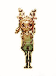 Deer Girl by carlottArt