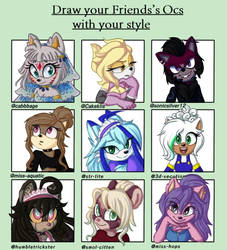 Draw your Friend's Ocs with your style by Dari-Draws