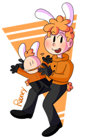 Rooney with Rooney lmaooo (Art Trade) by TabbyPiggy