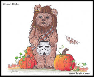 Commission: Star Wars Halloween by LeahCK