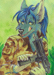 ACEO Time to attack by NinaArisava