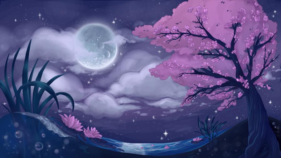 Moonlit Spring by Nyakoni