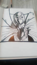 spawn  quick  study Pitt artist pen by RixxComixx