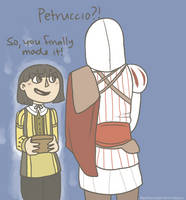 Petruccio and Ezio by thentherewasarainbow