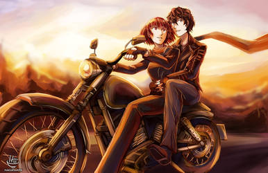 Persona 5- A Motorcycle Ride by Hakuramen
