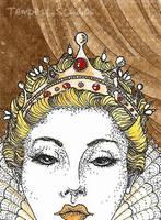Golden Queen ATC by TempestErika