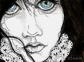 Goth Girl ATC by TempestErika