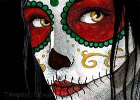 Skull Sister I ATC by TempestErika