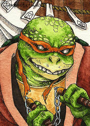 TMNT Michelangelo / ACEO by TempestErika