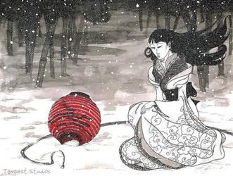 Yuki-onna: The Red Lantern by TempestErika
