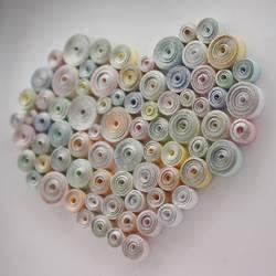 Quilled heart by InnaAdamenya