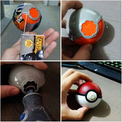 DIY Pokemon Ball by LadyAngelus
