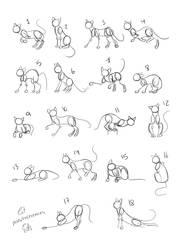 Cats Poses References by EifiHanaki