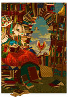 Archibald dreams of books by WilloeIsATree