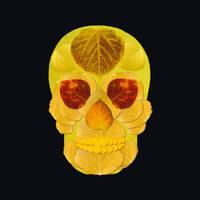 Aspen Leaf Skull 1 Black by AgustinGoba