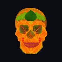 Aspen Leaf Skull 3 Black by AgustinGoba