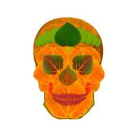 Aspen Leaf Skull 3 by AgustinGoba