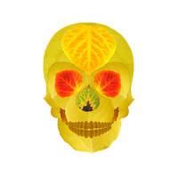 Aspen Leaf Skull 4 by AgustinGoba