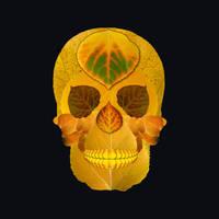Aspen Leaf Skull 8 Black by AgustinGoba