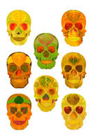 Aspen Leaf Skull Poster 2014 by AgustinGoba