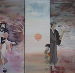 Tryptich - Japanese Family by Yamilisa