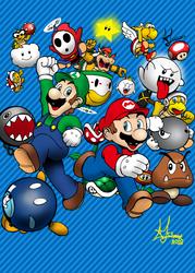 Super Mario Bros. Poster by Johnny12575