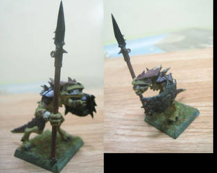 saurus warrior color test by boomstix