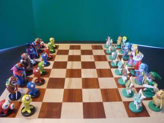 Legend of Zelda Chess Set 1 by DJN001Fizzman