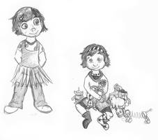 Bonnie Sketches by chameron