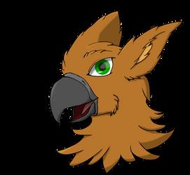 Gryphon Head by BurningAshDragon