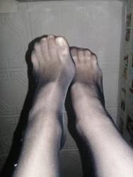 nylon feet_1 by GoddessRita