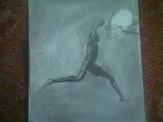 basket ball player silhoutte by avinsh12589