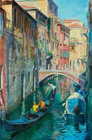 Gondola trip, Venice by Lefthand666