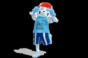 [MMD] US!Sans Rad Dude + DL by GJYYNGII
